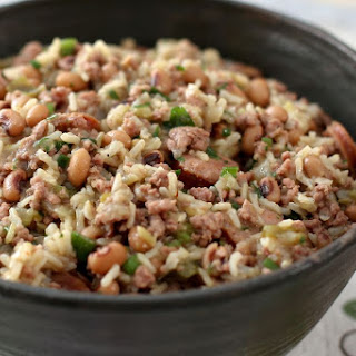 Pork and Sausage Jambalaya With Black-Eyed Peas.