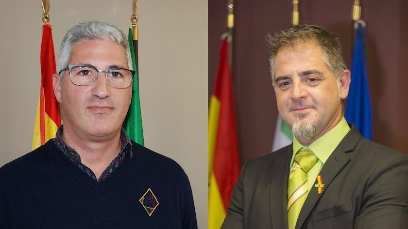 Ismael Torres, alcalde de Huércal de Almería (PP), y el concejal de Vox en el mismo Ayuntamiento, Arturo Torres