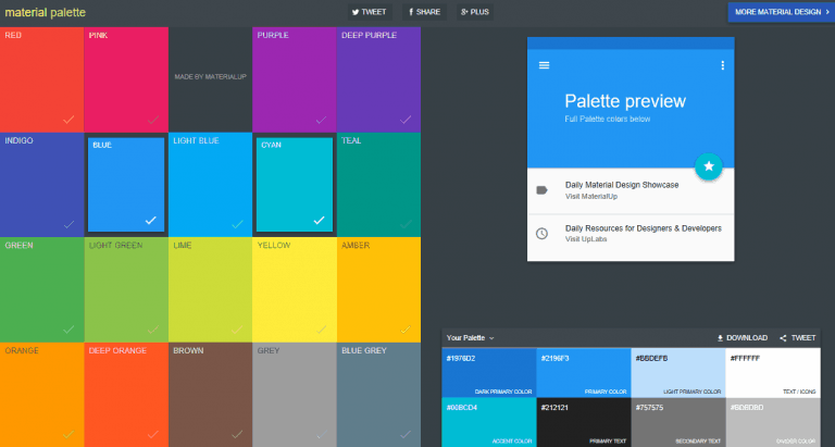 Material Palette - Http5000