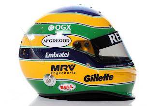 Photo: 7th February 2012The helmet of Bruno Senna.Photo: Glenn Dunbar/LAT Photographicref: Digital Image IMG_3194