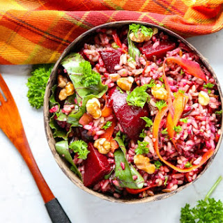 Wild Rice Salad with Roasted Beets.