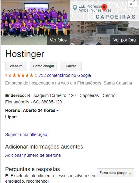 exemplo de perfil de sites no google meu negócio