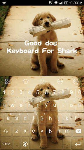 Good Dog Emoji Keyboard Theme
