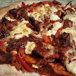 Barbecue Pulled Pork and Goat Cheese Pizza