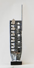 Photo: UP FROM THE ASHES TOO - 28H X 5W X 5D Forged and Polished Mild Steel, Stained Ipe