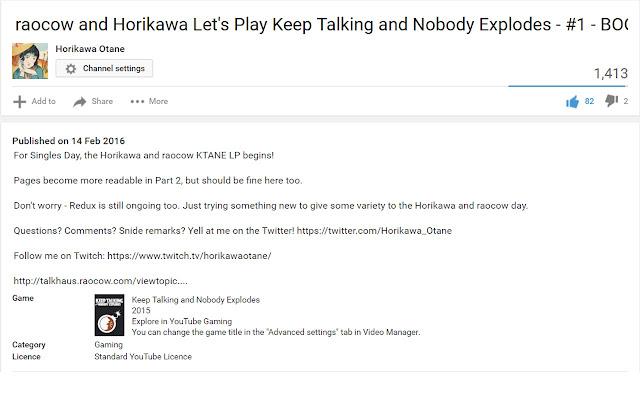 YouTube Description Link Fixer