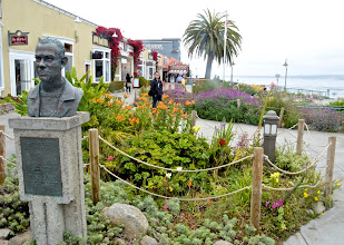 Photo: 15. This spot is right at the beginning of Cannery Row. The statue is of John Steinbeck, who wrote a book, also called Cannery Row, in 1945. Steinbeck is originally from nearby Salinas, and although he had frosty relations with his home town (many thought he was too left-leaning), that hasn't stopped Salinas in memorializing him. There's a National Steinbeck Center in Salinas that explores his life and literary works. This was on my list of things to do, but I sadly, ran out of time.