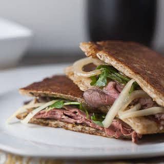 Roast Beef, Caramelized Onion + Gruyere Panini.
