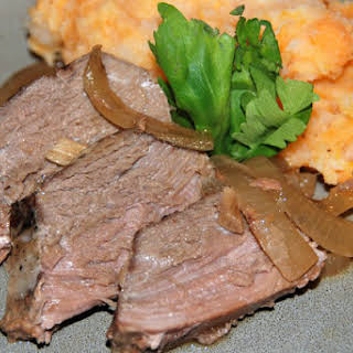 Crock Pot Apple-Scented Venison Roast.