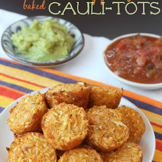 Mexican Pepper Jack Baked Cauli-Tots.