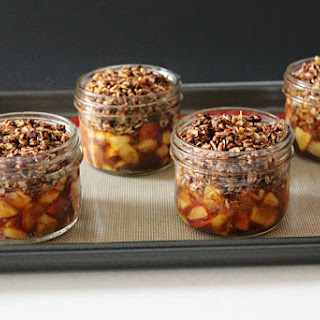 Granola Topped Cardamom Peach Crisp