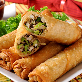 Cheese and Mushroom Spring Roll Recipe