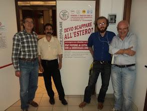 Photo: settimana DD - Alessandria - 27 maggio 2011 Alla mia destra Dario Rinco ed alla mia sinistra Davide Bono e Franco Dell'Alba