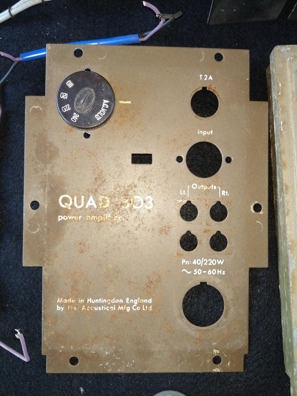 Quad 303 restoration