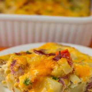 Cheesy Corned Beef Hash Breakfast Casserole Recipe