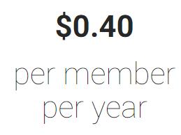$0.40 per member per year