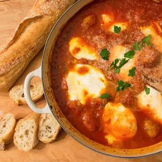 Easy Meatball and Mozzarella Appetizer.