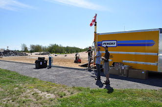Photo: We used a rental truck as our portable command and control shelter (PCCS) while at the CSA.