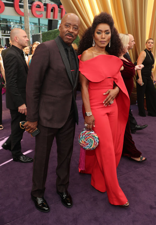 Angela Bassett, with Courtney B Vance, at the 2019 Emmy Awards.