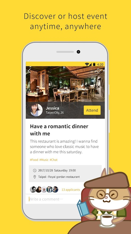 Eatgether: The Most Real App for Relationship- screenshot