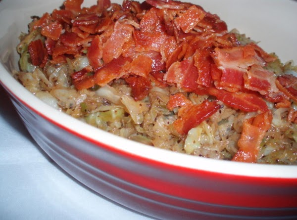 Crumble bacon on top before serving.