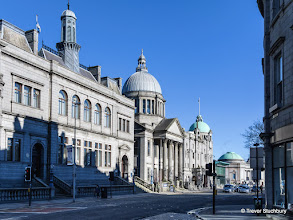 Photo: Central Library, St Marks Church and His Majesty's Theatre, Aberdeen