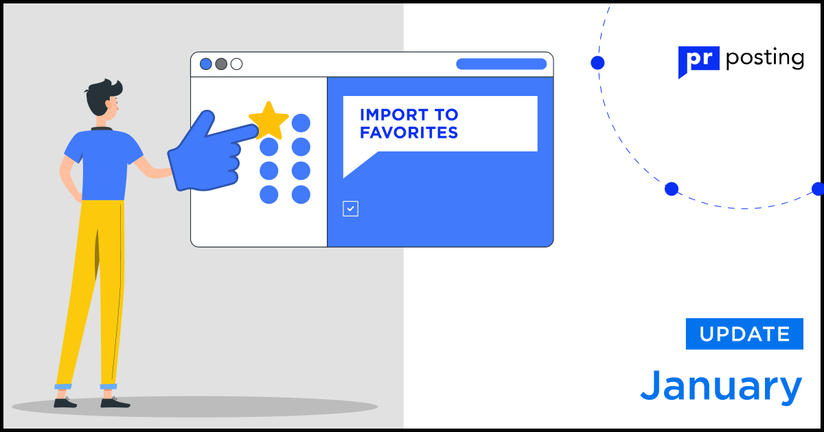 Importing sites into favorites