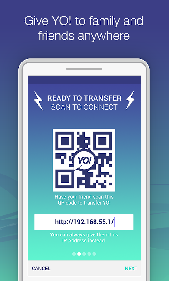 YO! - Chat & Share over WiFi - screenshot