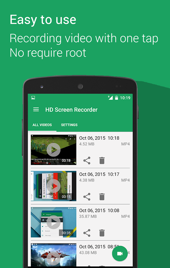 HD Screen Recorder - No Root- screenshot