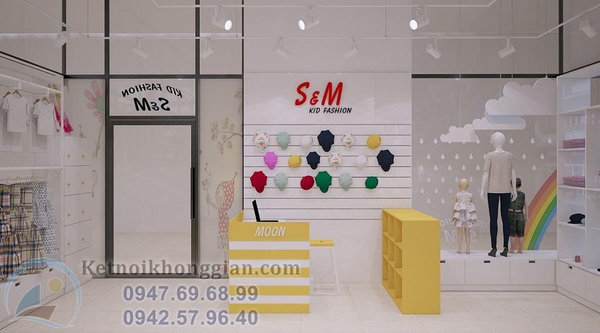 thiết kế shop thời trang mẹ và bé tại hà nội