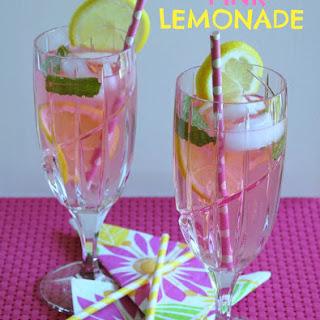 Homemade Pink Lemonade.