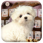 Lovely Puppy Theme Keyboard
