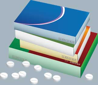 Generic boxes of pills for dementia
