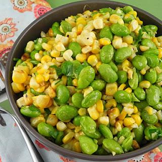 Sautéed Corn & Edamame