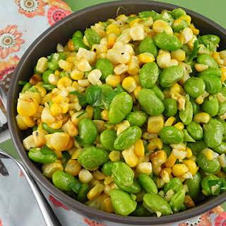 Sautéed Corn & Edamame.