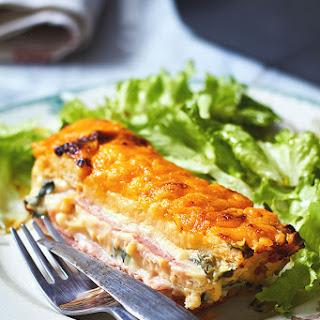 Ham Cheese Spinach Cake.
