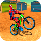 Super Spinnen Held BMX Fahrrad Stunts