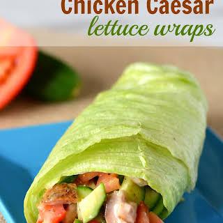 Chicken Caesar Lettuce Wraps.