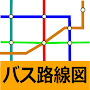 Bus route map (timetable, approach information, bus stop) APK icon