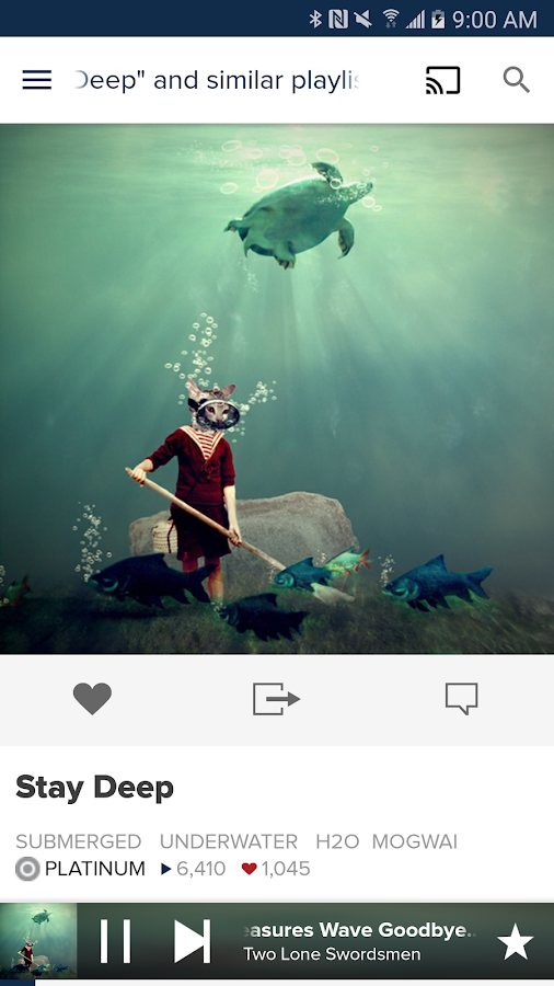 8tracks playlist radio- screenshot