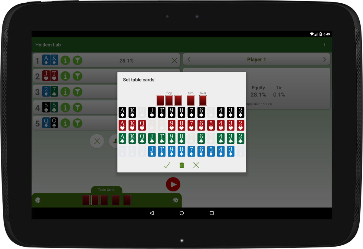 Texas holdem poker hand calculator