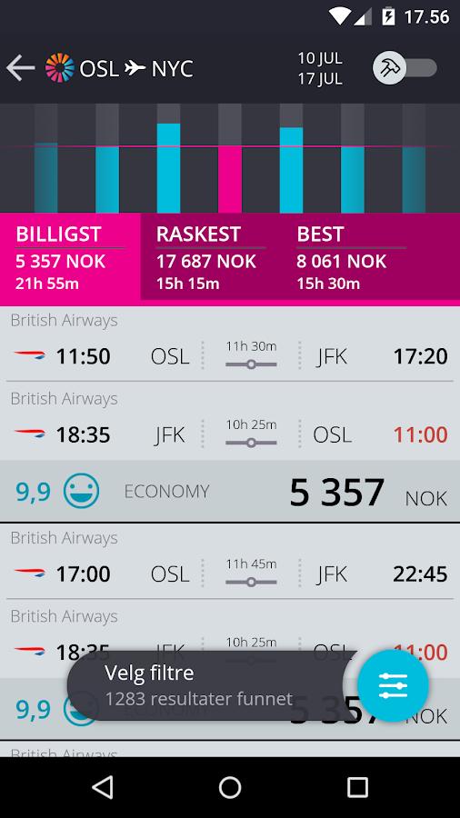 momondo - Billig Fly og Hotell - screenshot