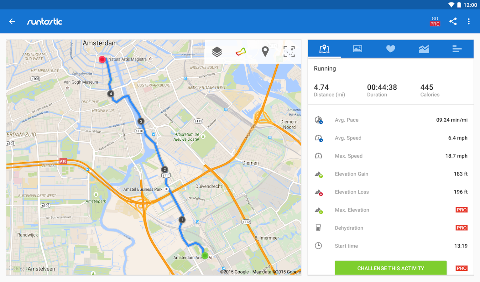 Runtastic Running & Fitness Tracker- screenshot