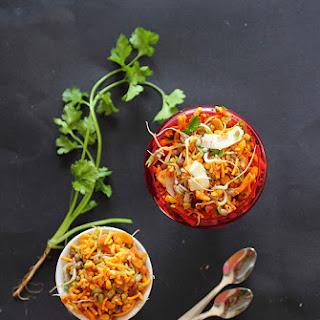 Bhelpuri - Indian snack! (BioSnackySprouts Challenge - Mung Beans!).