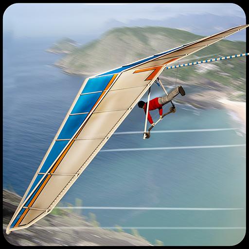模拟のエアハンググライダーシミュレータ3D LOGO-記事Game