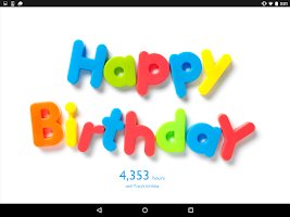 Screenshot of Birthday Countdown Widget