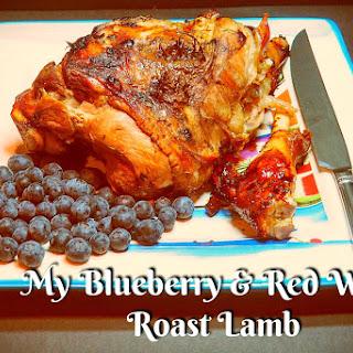 My Blueberry & Red Wine Roast Lamb Recipe
