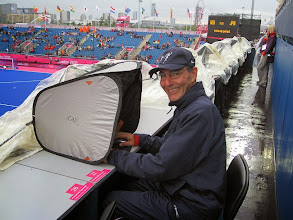 Photo: I am making good use of my iCap at the London Olympic Games, where I am working at the hockey venue. Interestingly, despite the well-known rainy London weather, the Media tribune is not covered... I am making a lot of jealous colleagues with my iCap! Please keep me on your list for when the new model will be released. Kind regards from London, ---------- Yan Huckendubler 2012 Olympic Games, London http://www.fih.ch/en/London2012