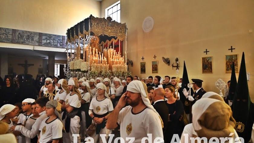 La Macarena, en su última salida procesional.