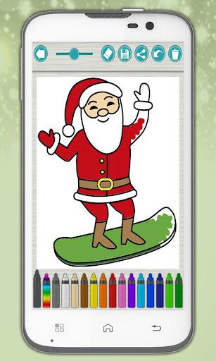 Santa coloring pages xmas